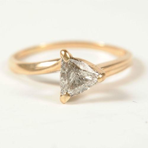 Trillion Cut Engagement Ring Bling Bling