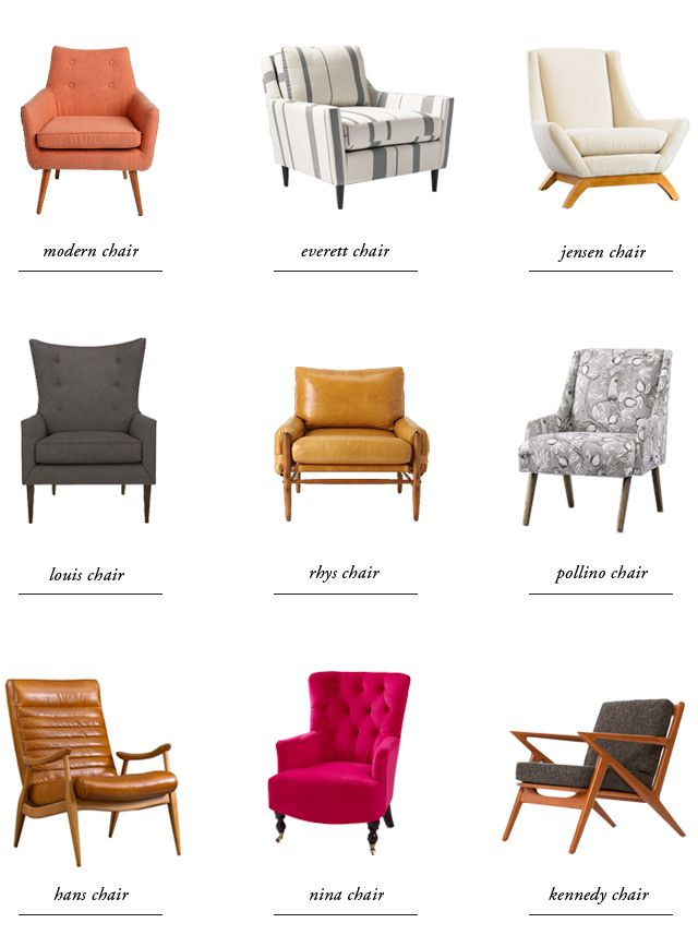 Upholstered chair styles guide upholstered chair styles for Styles of upholstered chairs