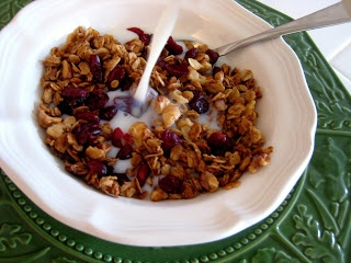 Orange-Cranberry Granola Recipe | Breakfast Recipes | Pinterest