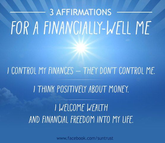 Affirmations for financial success