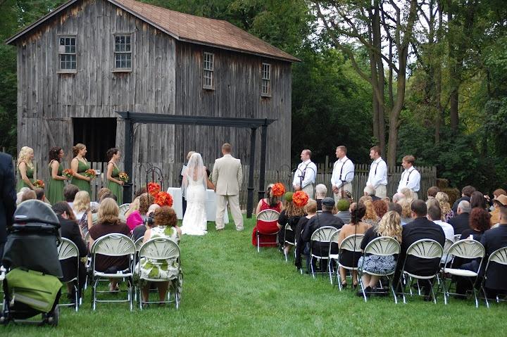 ceremony by the animals cobblestone farm weddings
