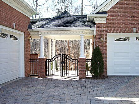 Open breezeway brick house design pinterest Breezeway house plans
