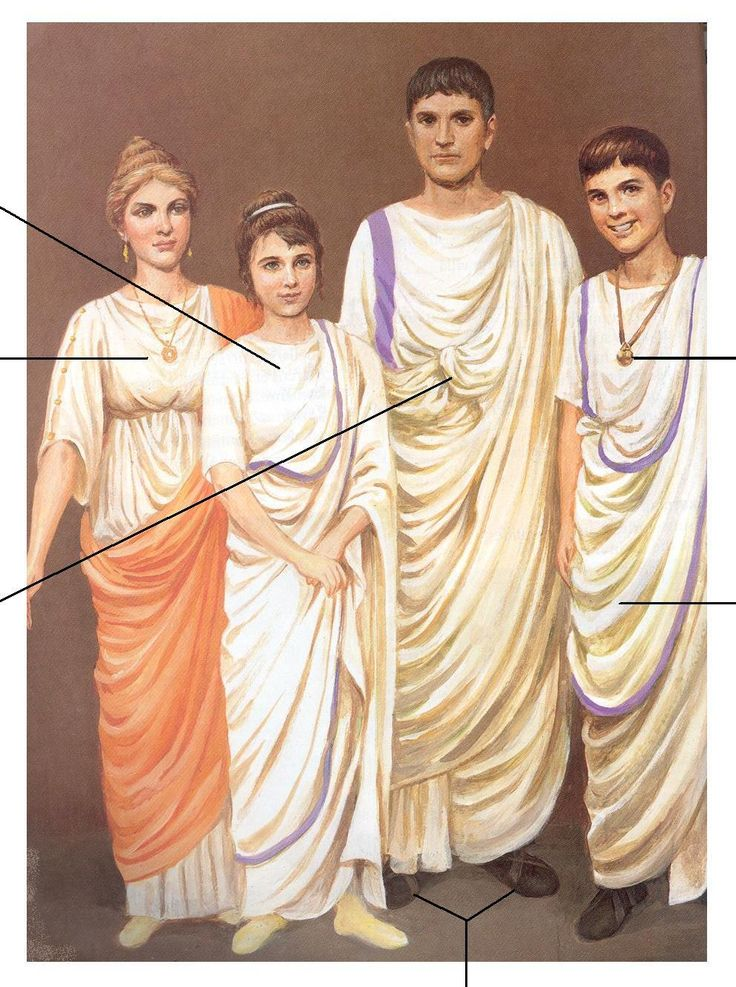 Ancient Roman Clothing Men And Woman Purple Showing
