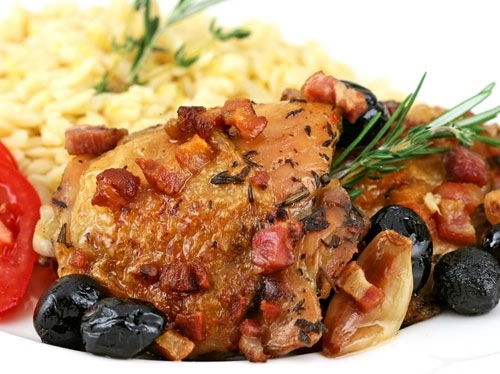 Roast Chicken with Pancetta and Olives. | Chicken | Pinterest