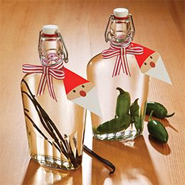 A classy & useful DIY holiday gift: jalapeno-infused vodka or homemade vanilla.