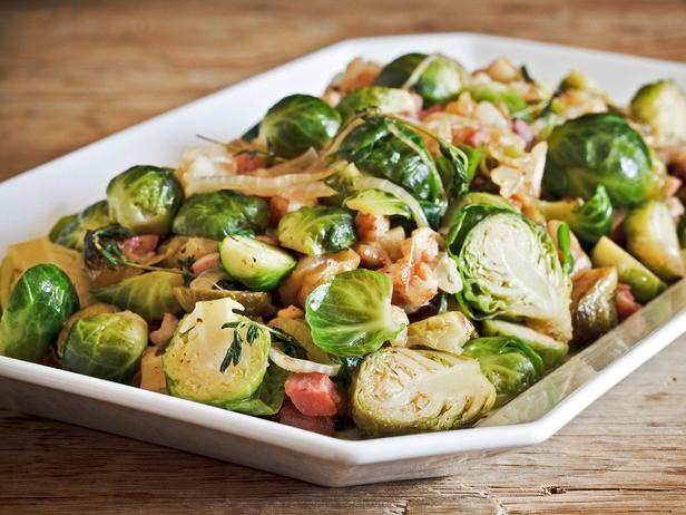 Caramelized Brussels Sprouts with Sherry-Dijon Vinaigrette...green ...