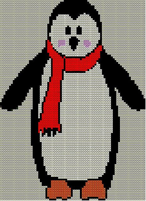 Christmas Penguin Jumper Knitting Pattern : Christmas Penguin Jumper / Sweater Knitting Pattern #2 pattern by Blo?
