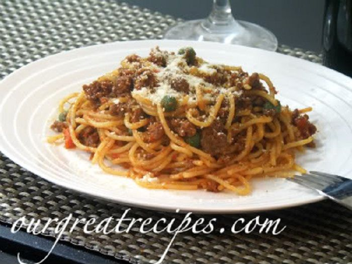 Spaghetti with Bolognese Sauce | Food/foods..... | Pinterest