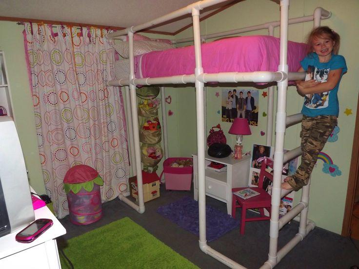 Детская кровать из труб пвх своими руками 74