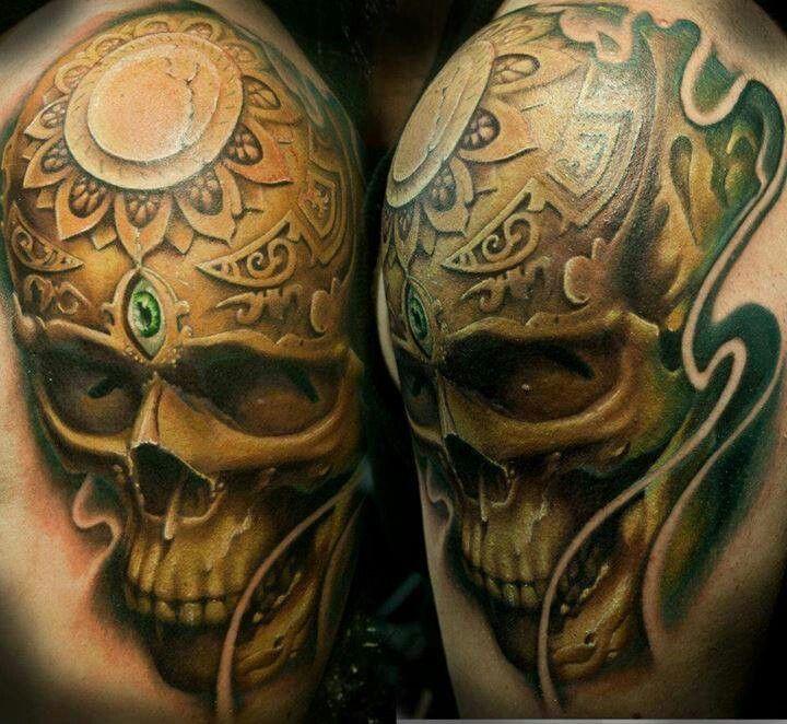 Awesome Shoulder Skulls Tattoo Ideas Pinterest