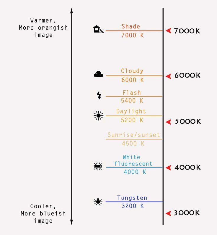 white balance color chart