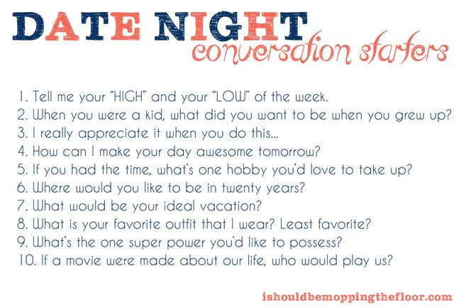 Good conversation topics dating
