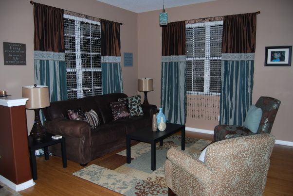 turquoise and brown living rooms design let 39 s decorate