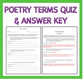 essay terms quiz