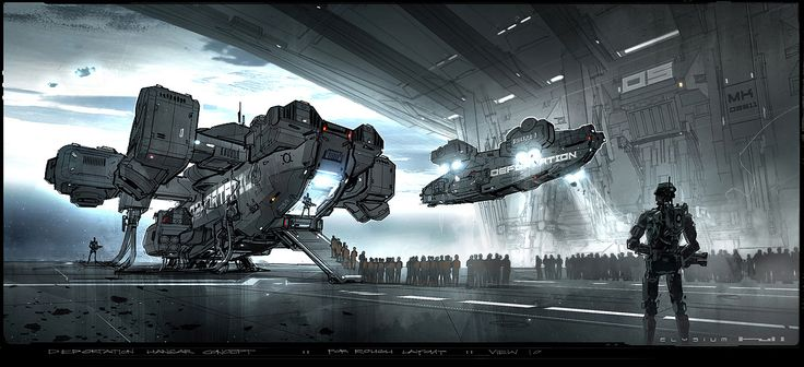 Elysium Spaceship Art ...