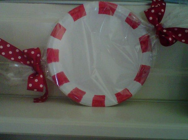 Peppermint candy made from paper plate christmas pinterest