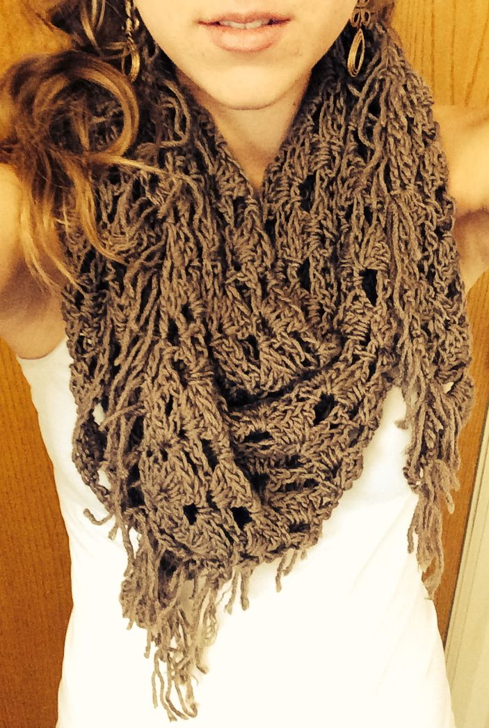 Crochet Pattern For Summer Shawl : Crocheted summer scarf around the neck Pinterest
