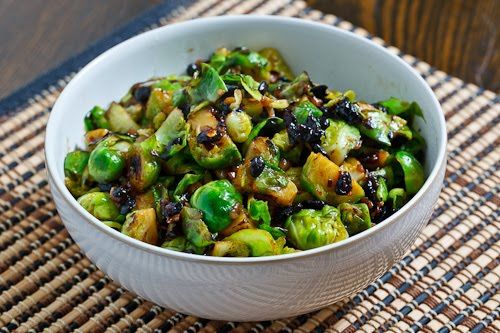 Brussels Sprouts in Black Bean Sauce | Recipe