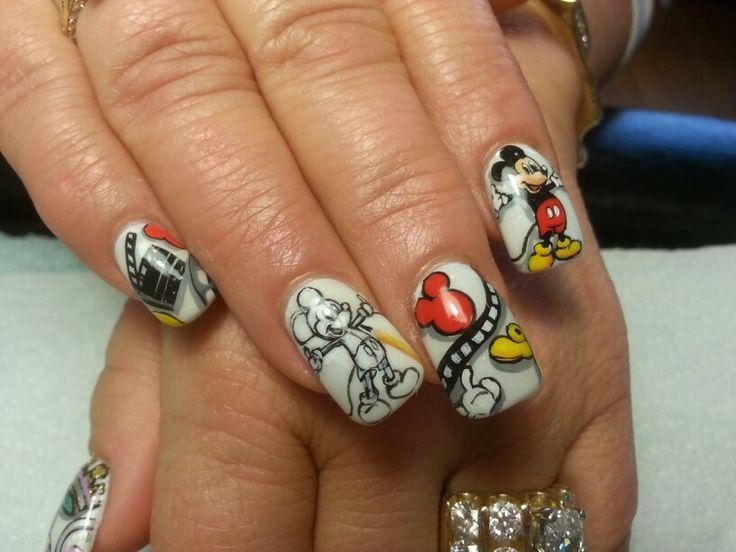 Nail art by susan Tumblety hand painted Insync salon matawan nj