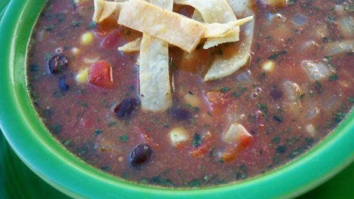 Crockpot Black Bean Tortilla Soup | Soups ,stews and chowders. | Pint ...