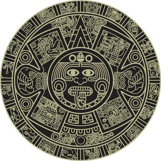 Calendar Design Drawing : Aztec art calendar design pinterest