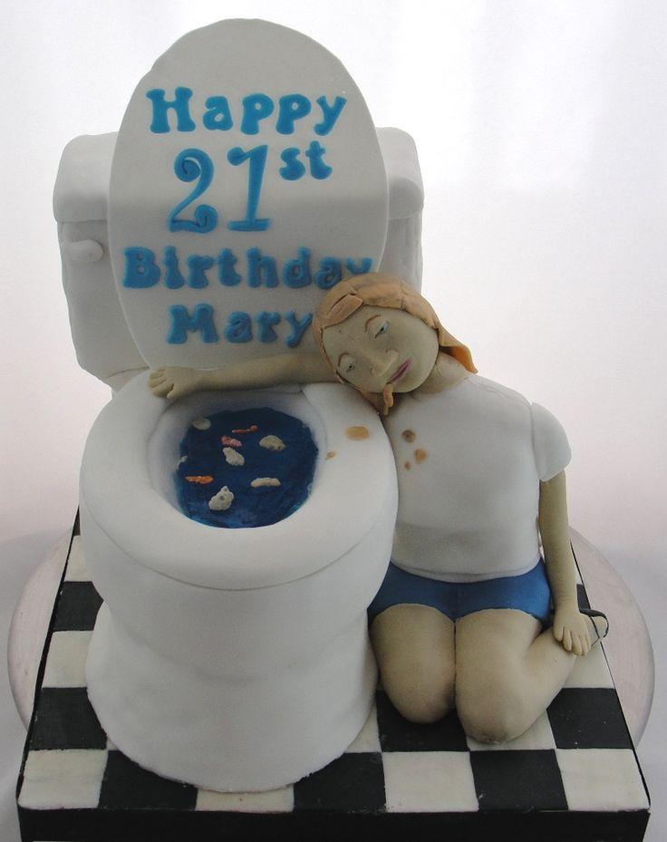21st Birthday Toilet Cake Toilet cakes Pinterest