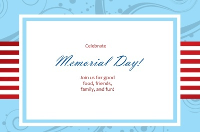 memorial day invitations wording