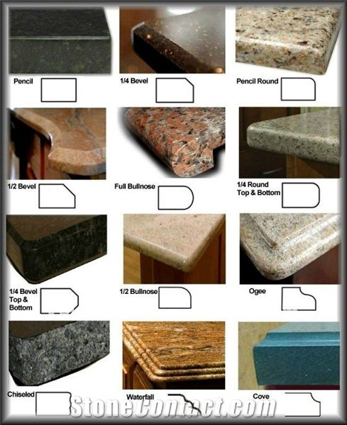 Countertop Edge Materials : Countertop Edge Profiles For the Home Pinterest