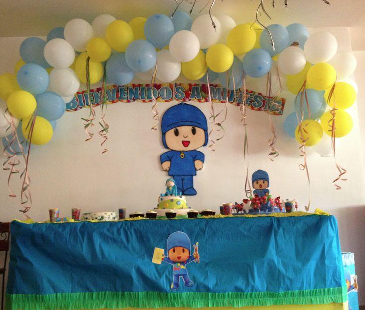 Decoración para cumpleaño de Pocoyo - Imagui