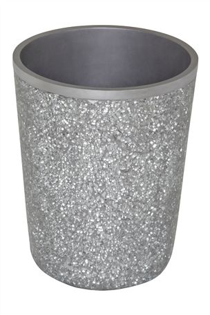 silver sparkle bathroom bin home ideas pinterest