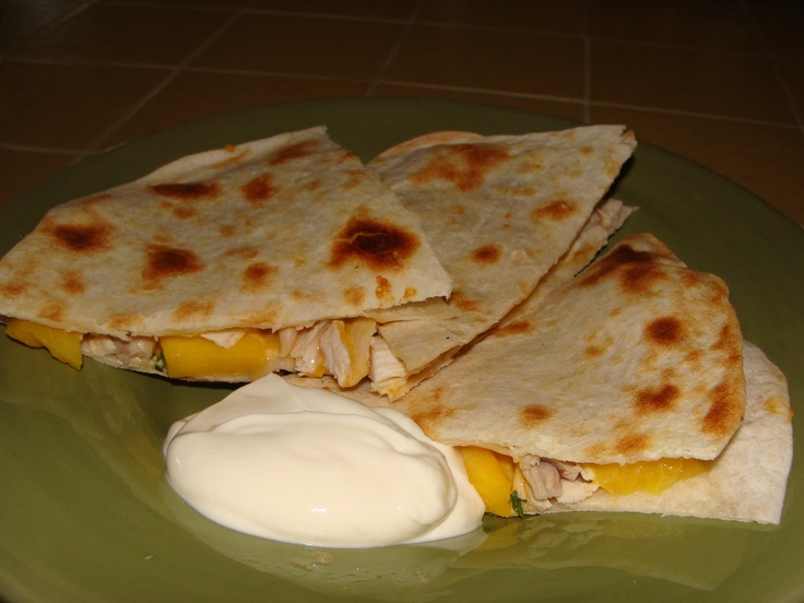 Chicken & Peach Quesadillas | recipes to try | Pinterest