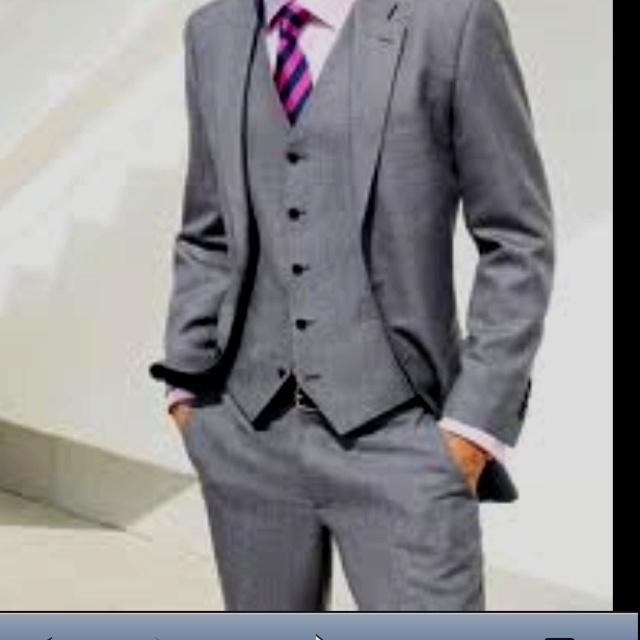 grey suit purple tie how do i look wedding episode