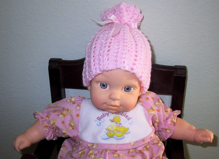 Free Crochet Pattern Preemie Cap : ADJUSTABLE RIBBED PREEMIE CAP Crochet Patterns - Baby ...