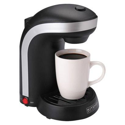 Kitchen Selectives Single Serve Drip Coffee Maker - Black (1 Cup)