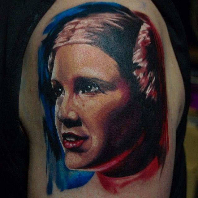 Princess Leia tattoo by Oddboy | Tattoo | Pinterest: http://pinterest.com/pin/392376186257208150/