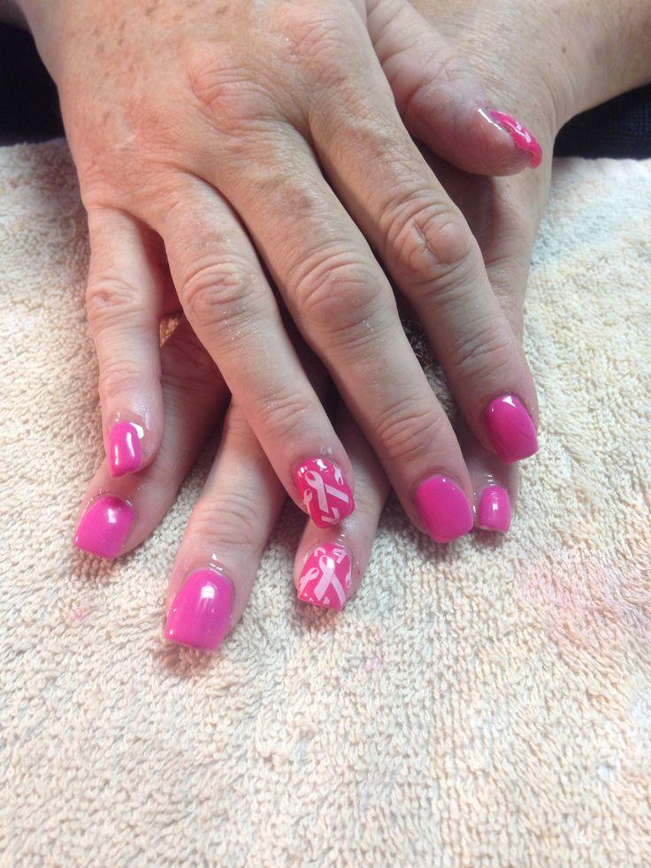 Breast cancer nails Gel nails Shellac OPI