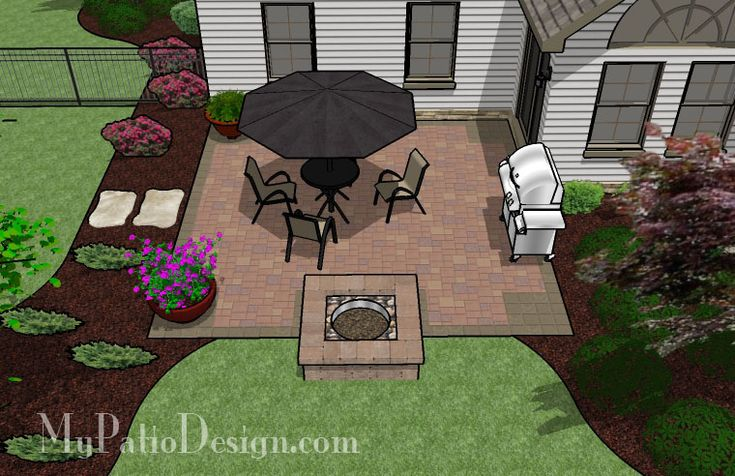 Easy Backyard Patio Ideas : Easy to Build Patio with Fire Pit  Patio Designs & Ideas