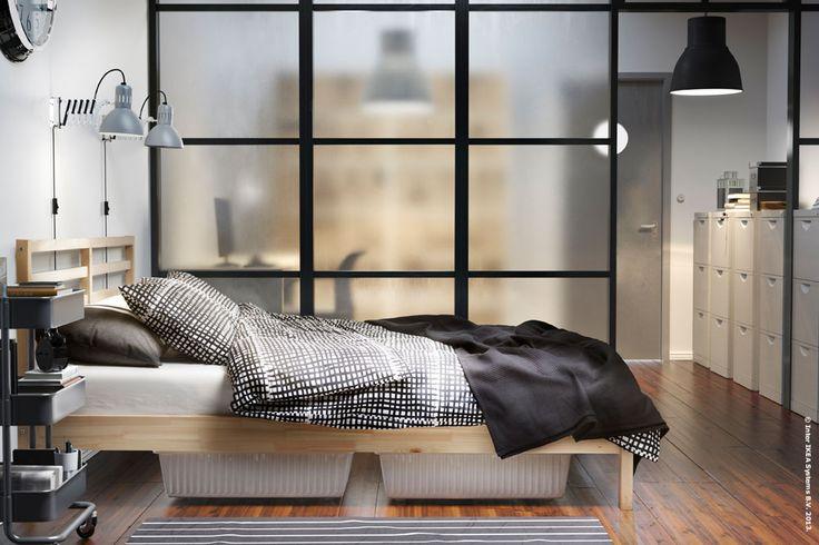 Raumteiler Schiebevorhang Ikea ~ TARVA bed frame  Bedrooms  Pinterest