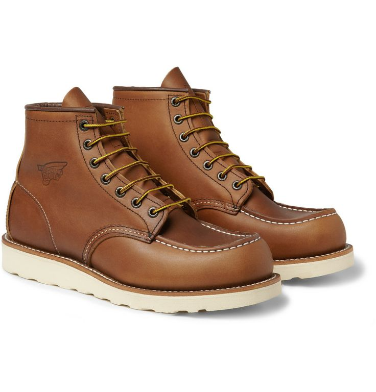 Red Wing Shoes 875 Moc Rubber-Soled Leather Boots | MR PORTER