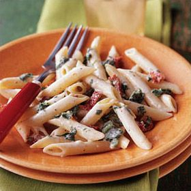 Creamy Sun-Dried Tomato & Spinach Penne is a nice way to bring some ...