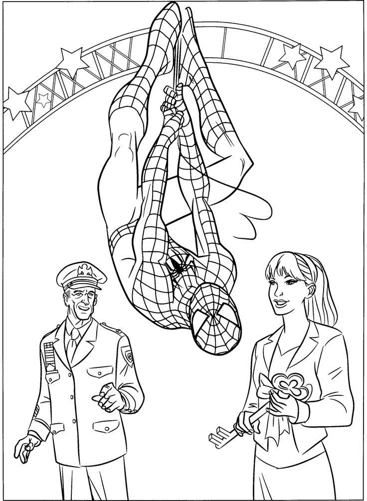 Spider Man And Friends Coloring Pages : spiderman coloring : Pinterest