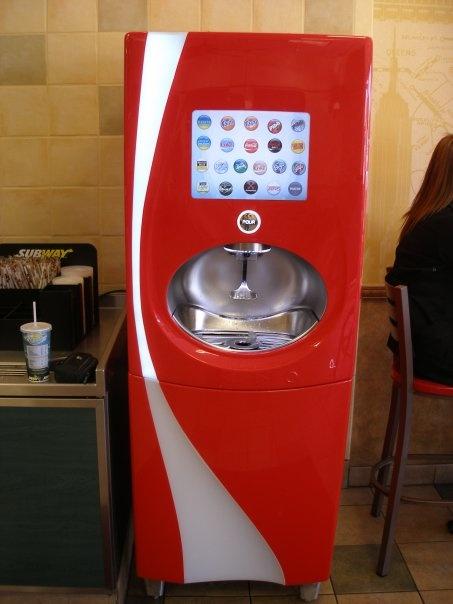 coca cola dispensing machine