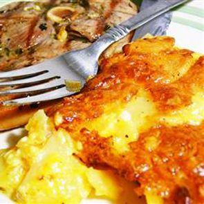 three cheese garlic scalloped potatoes   Feed Me!!   Pinterest