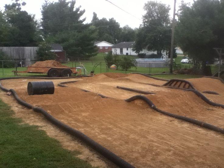 my backyard traxxas rc track rc stuff pinterest