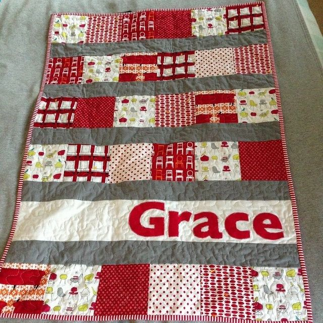 Fun, easy cute baby quilt. DIY Craft Ideas Pinterest