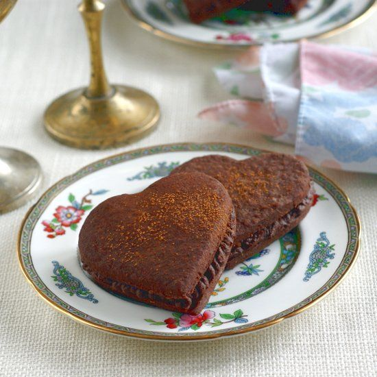 Chocolate Cinnamon Heart Sandwich Cookies (vegan, gluten-free, no ...