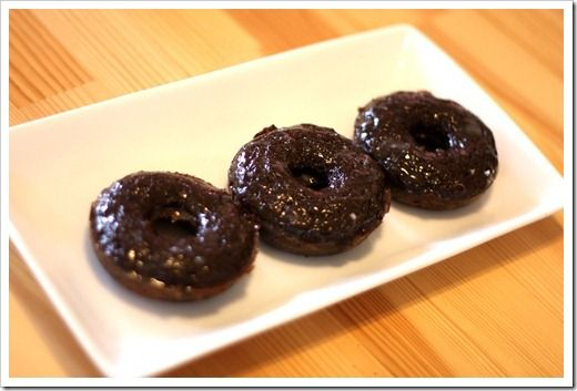 Grain-Free Chocolate Cake Donuts with Vanilla Bean Glaze