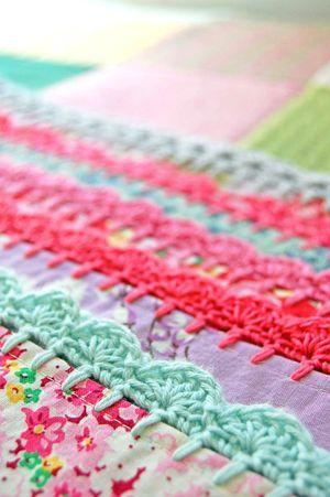 Crochet edges.
