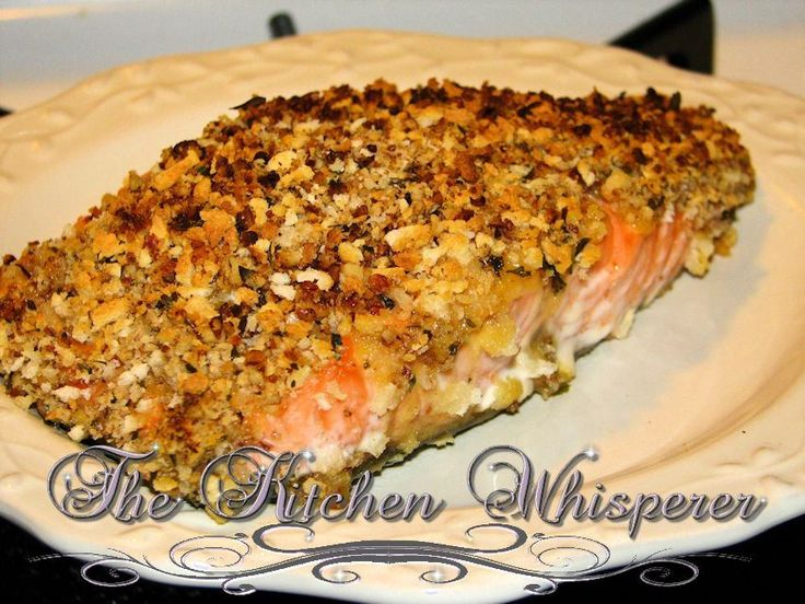 Pecan Crusted Salmon with a Mustard Apricot Glaze | Recipe