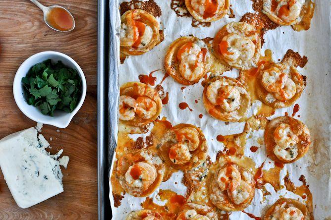 mini buffalo shrimp puff pastry pizzas. | OMG Food | Pinterest